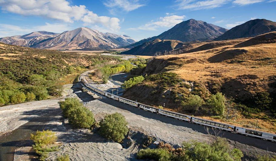 Tranz Alpine Scenic train Greymouth to Christchurch