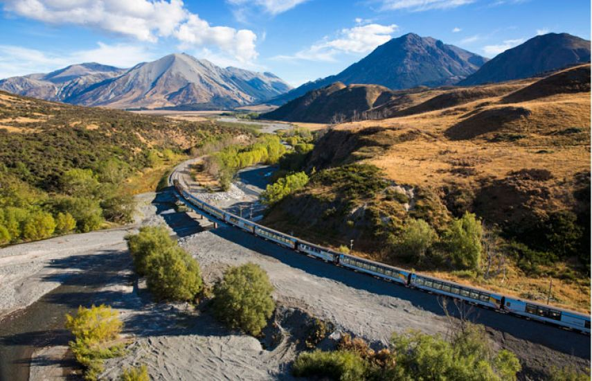 TranzAlpine Scenic Train to Christchurch