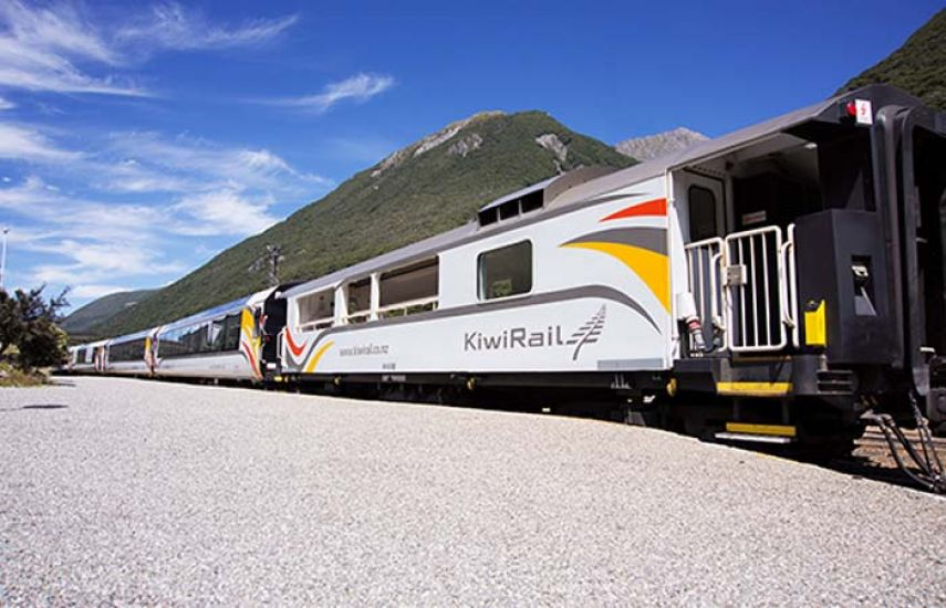 Tranz Alpine train Greymouth to Christchurch