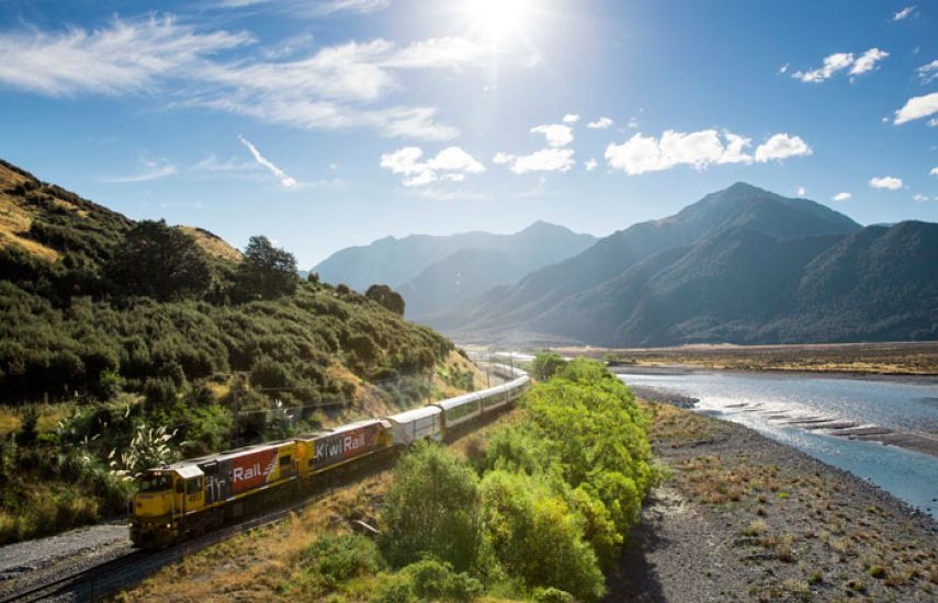 TranzAlpine Train to Christchurch